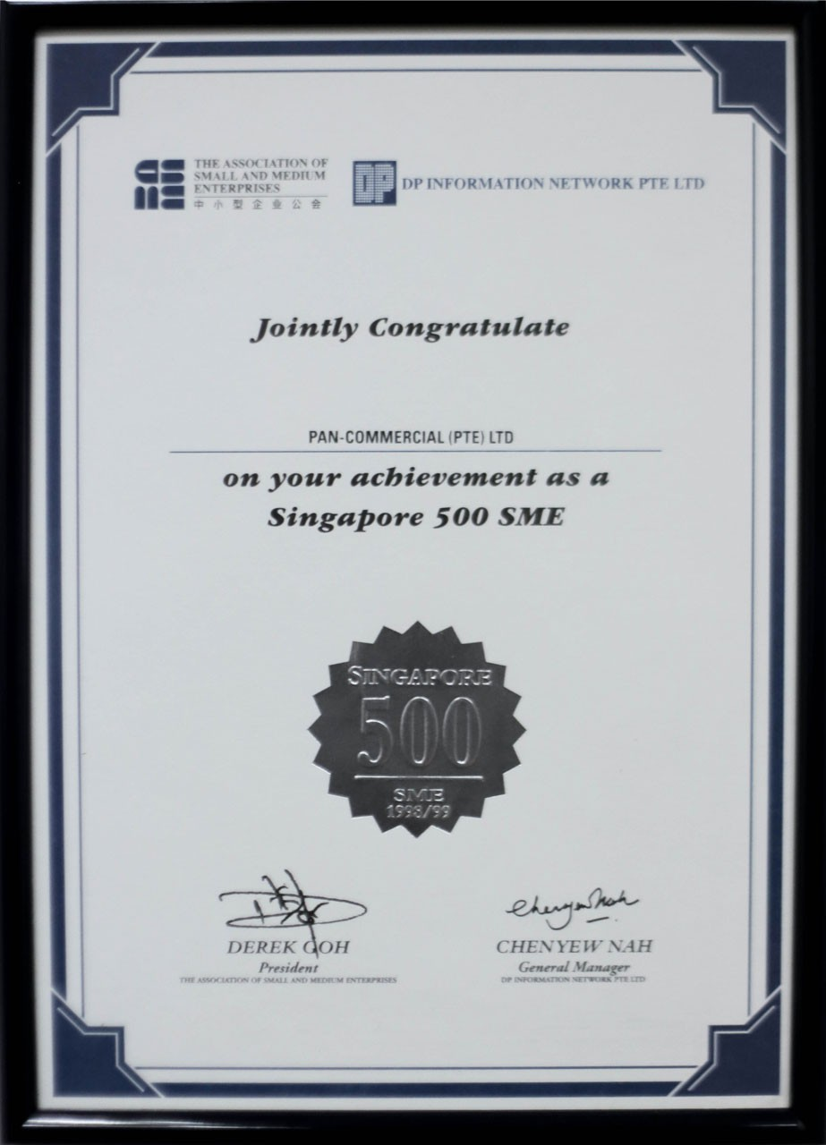 Congratulation on Singapore 500 SME Achievement