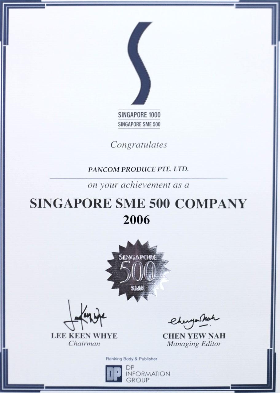 Singapore SME 500 Company 2006
