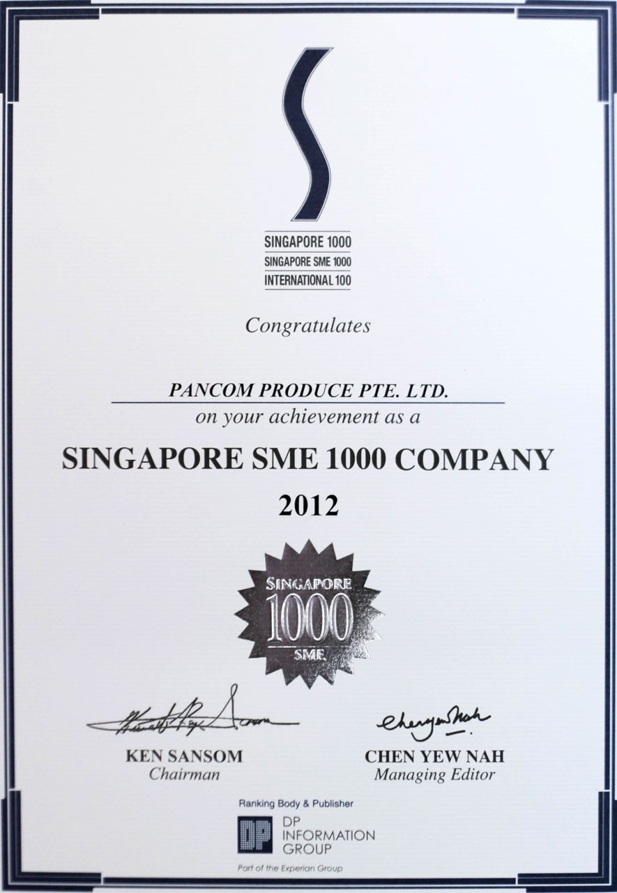 Singapore SME 1000 Company 2012