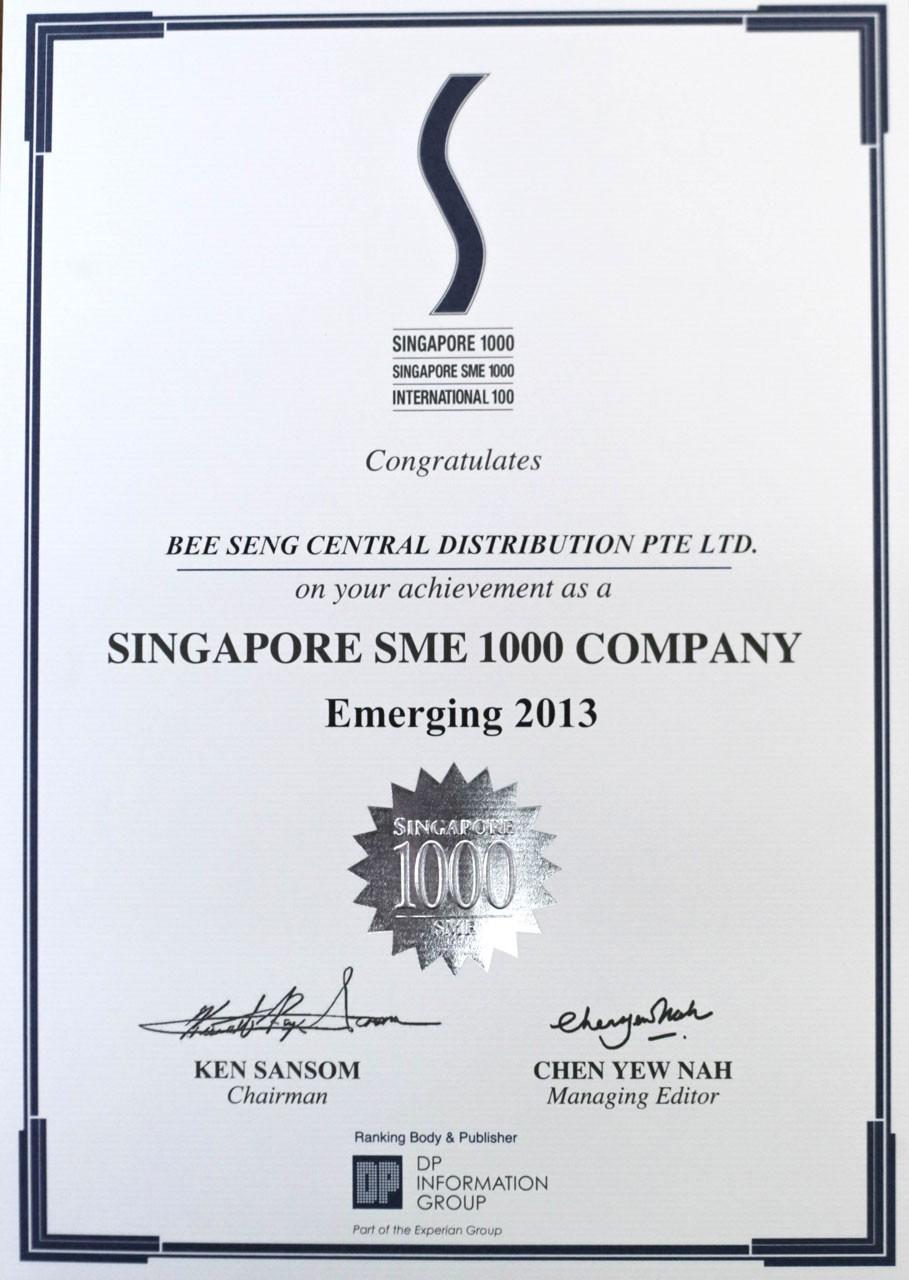 Singapore SME 1000 Company 2013