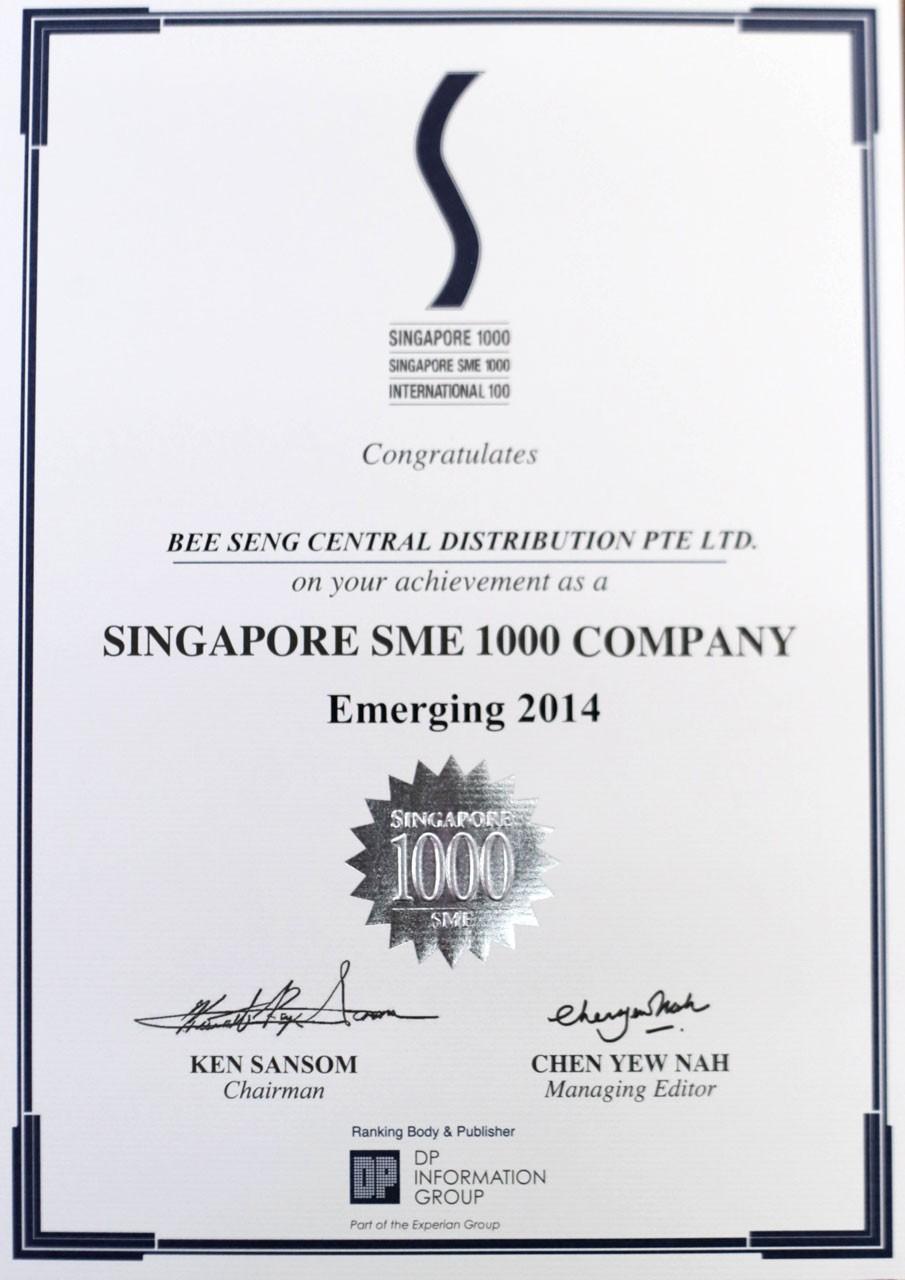 Singapore SME 1000 Company 2014