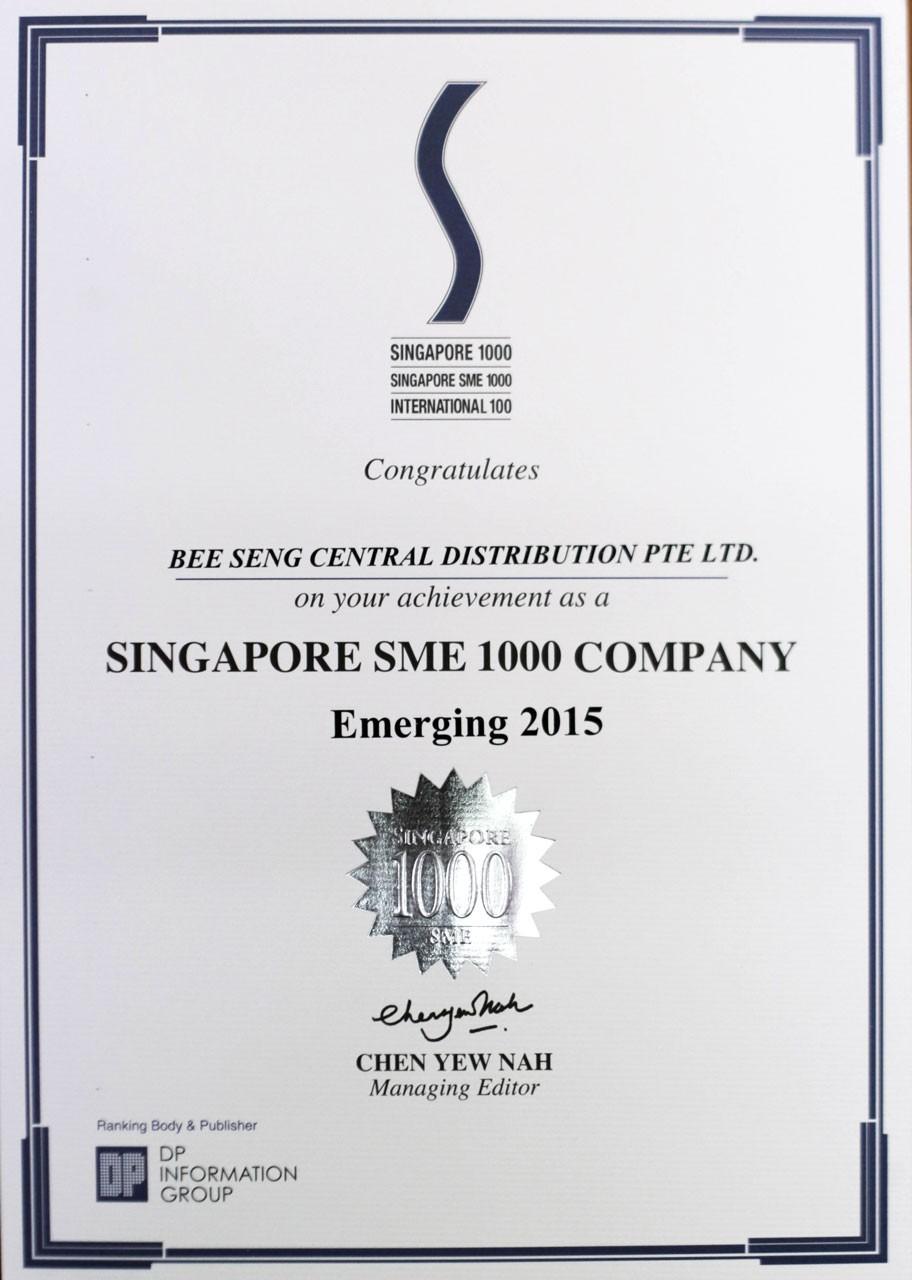 Singapore SME 1000 Company 2015