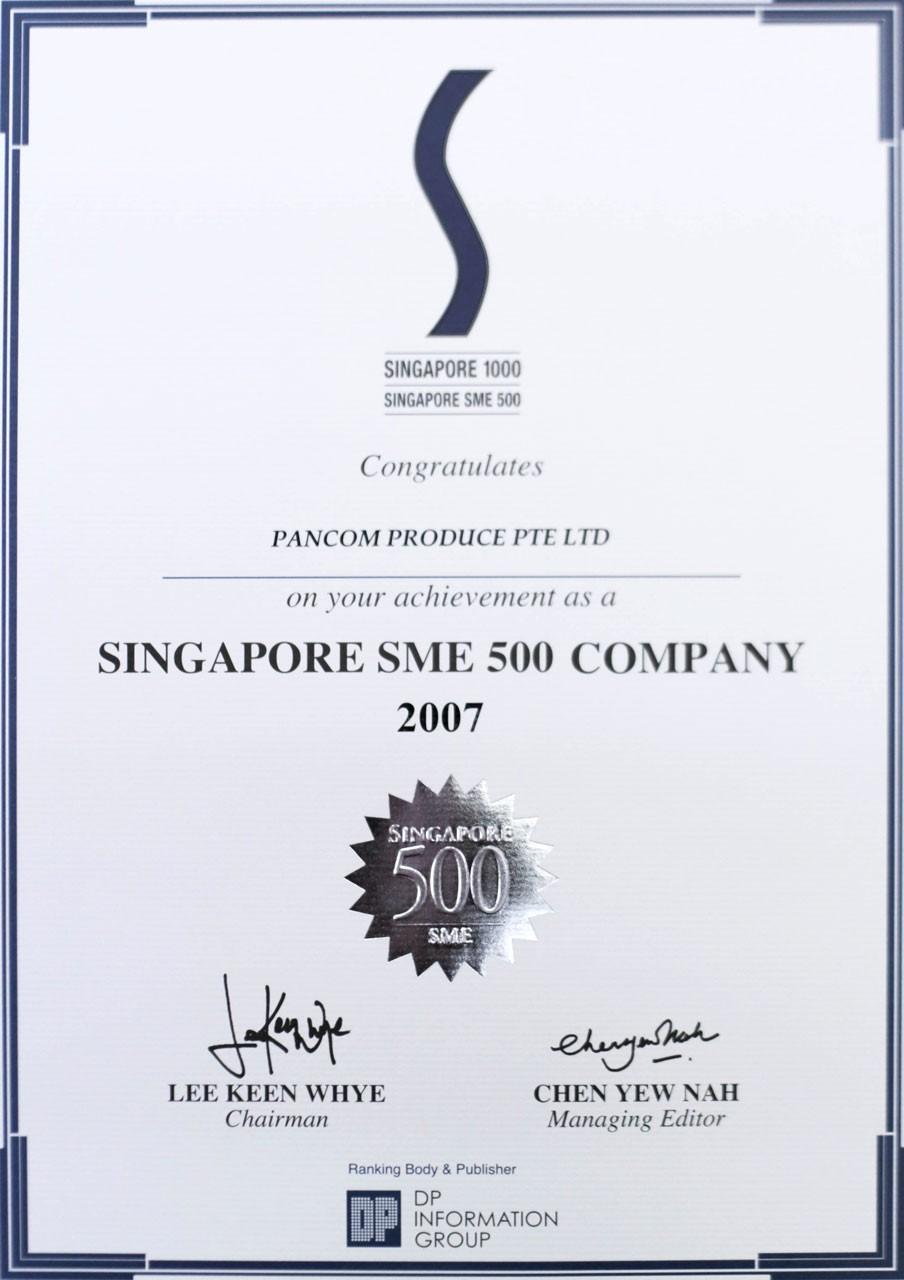 Singapore SME 500 Company 2007