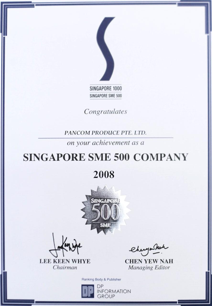 Singapore SME 500 Company 2008