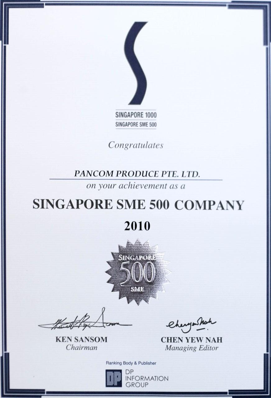 Singapore SME 500 Company 2010